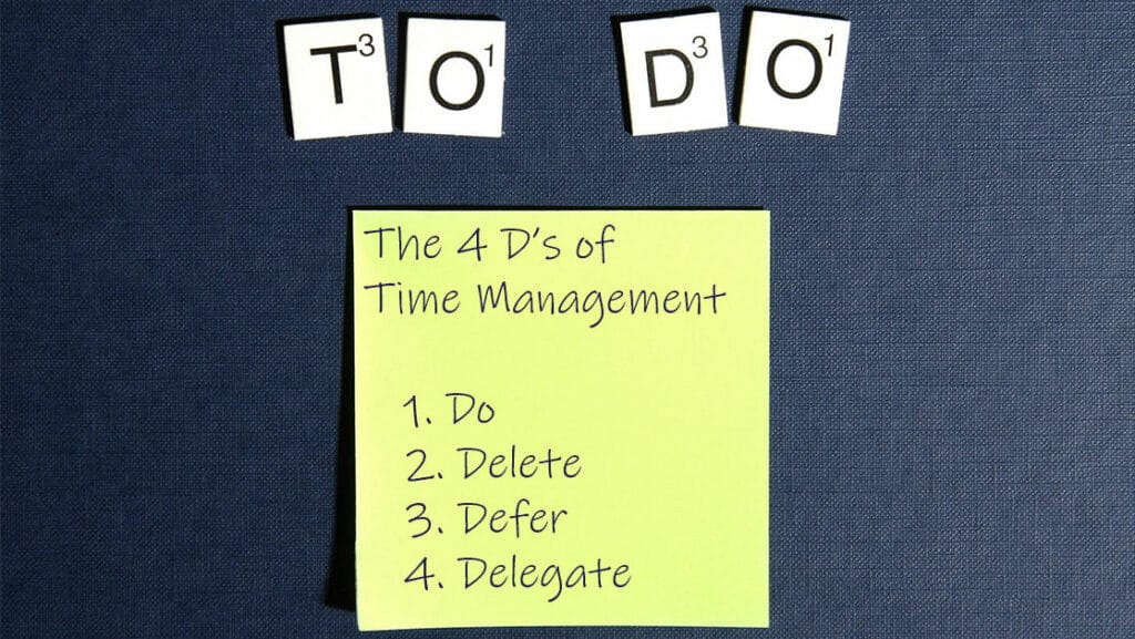 The 4 D's of Time Management